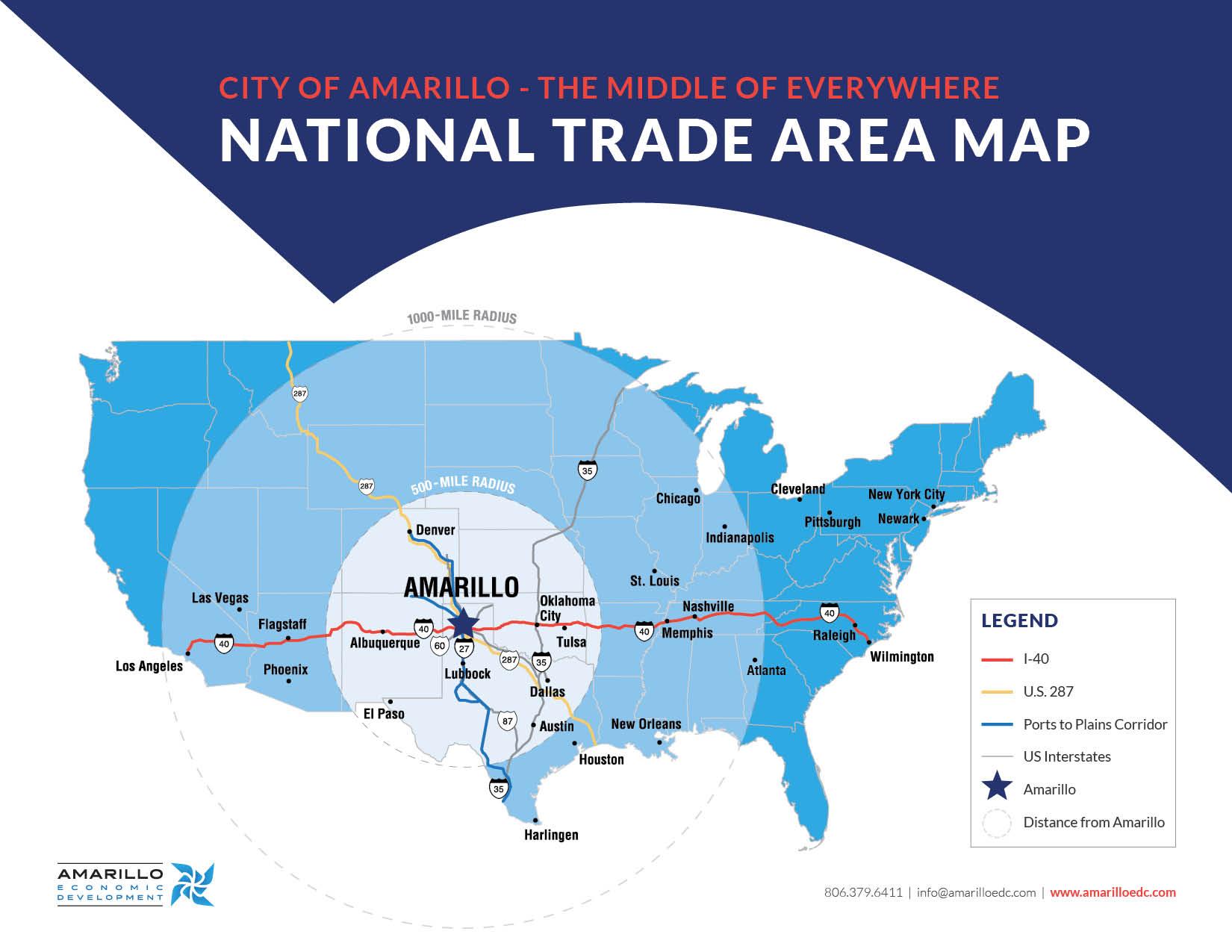amarillo trade area map